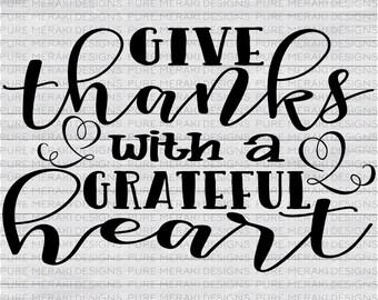 Give Thanks SVG, Thanksgiving Svg, Harvest Wishes Svg, Fall SVG, Autumn SVG, Halloween svg, Harvest Svg, Sign Stencil Svg, Holiday Svg