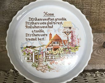 Vintage Poole England Quiche or Large Tart Plate