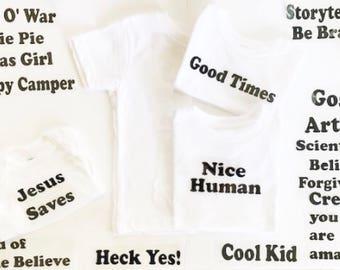 Children Tees• Kids Tees• Kids Tshirts• Retro Kids Shirts• Retro Tees