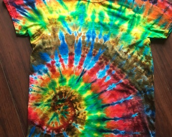 M Hot lced Spiral Ice Dyed Tie Dye T-Shirt