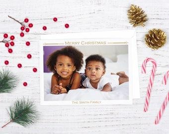 Modern Merry Christmas Card, Christmas Photo Card, Photo Christmas card, Digital Christmas Card, Holiday Photo Card, Modern Holiday Card