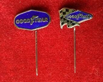 Good Year England Birmingham Enamel Vintage Badges Tyres Pins Goodyear