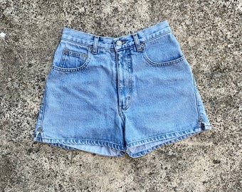 Vintage Rio High Waisted Light Wash Denim Shorts | xs | small | 25 | 26