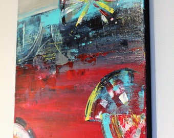 contemporary abstract art ferris wheel