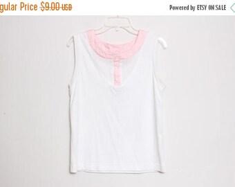 30% OFF VTG 80s Pink White Tennis Top M/L