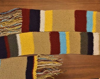 The Fourth Doctor Scarf Doctor Who Fandom Doctor Who Scarf 4th Doctor Scarf Tom Baker Costume
