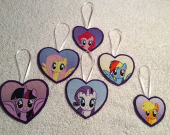 My Little Pony Hearts! Set of 6 Ornaments