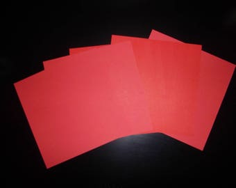 set of 5 paper origami red 15 x 15 cm