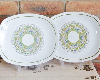 Ridgway Ironstone Arlington dinner plates, serving platters, 1960s, gift idea