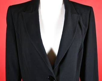 Nina Ricci Edition Boutique Paris Long Black Coat