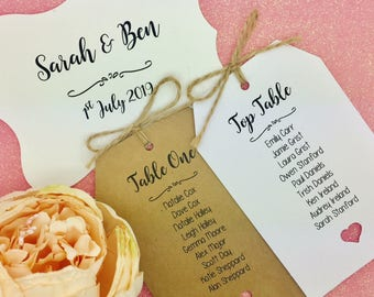 Seating Chart, Seating Plan, Find Your Seat, Wedding Seating Cards, Tags
