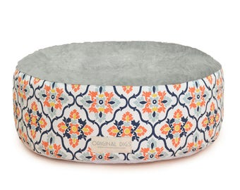 Floral Pet Pouf COVER, Fiesta Pet Bed Furniture for Dog or Cat, Round Pet Bed, Dog Bed, Cat Bed, Washable, Small Medium Large Pet Poufs