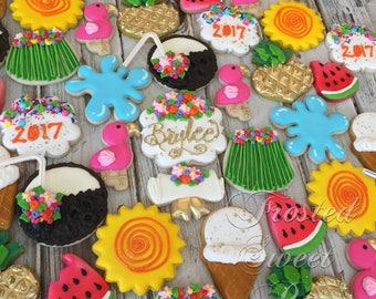 2 dozen Luau Summer Hawaii Cookies