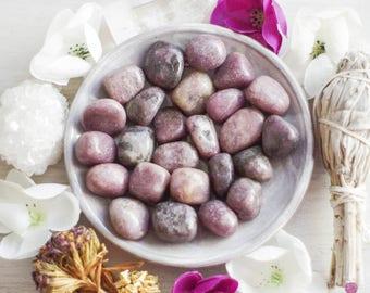 Lepidolite - Healing Stones - Emotional Healing - Calming Stones - Natural Stones - Tumbled Stones - Meditation Stones - Yoga - Loose Stones