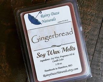 Gingerbread - Gingerbread Wax Melt - Gingerbread Wax Tart - Wax Melt - Wax Tart - Soy Wax - Vanilla - Holiday - Gift