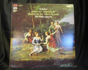 Franz Schubert The Weller Quartet Quintet In C Major, Op. 163 Quartettsatz In C Minor