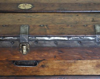 Vintage Marshalls Shipping Trunk Storage Chest Ideal Coffee Table