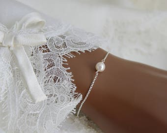 Chain bracelet with soft cream japan Saltwater Akoya pearl bracelet with Zartcreme Japan salt water Akoya pearl necklace Bracelet
