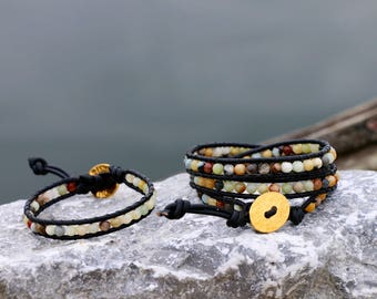 Amazonite Wrap Bracelets (Single or Triple)