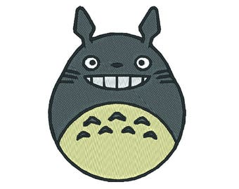 Totoro Patch Machine Embroidery Design - 8 Formats - PES - DST - Brother - Studio Ghibli - My Neighbor Totoro Embroidery Pattern