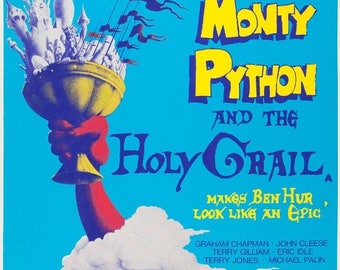 ON SALE NOW: Monty Python & The Holy Grail Movie Poster Rare