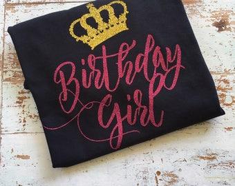 V-neck Birthday Girl Shirt, Adult Birthday Shirt