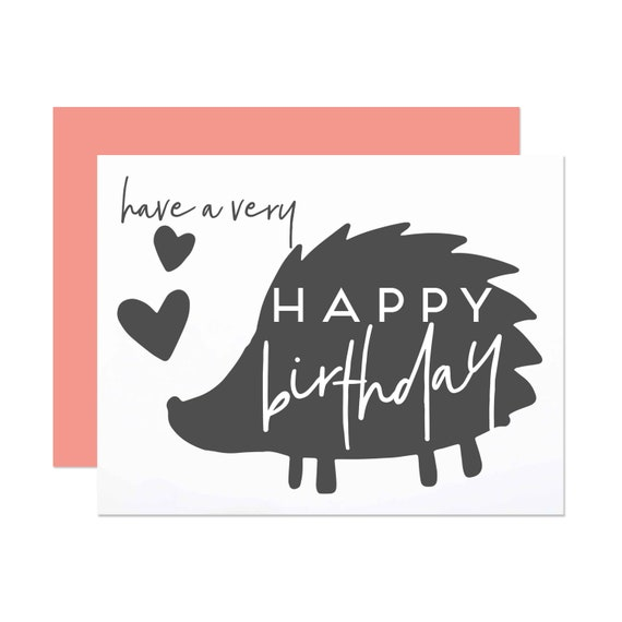 Sweet Hedgehog Birthday - Happy Birthday Card