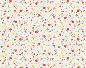 "1/2 yard Penny Rose Fabrics ""Bunnies and Cream"" By Lauren Nash | Bunnies Rose Cream"