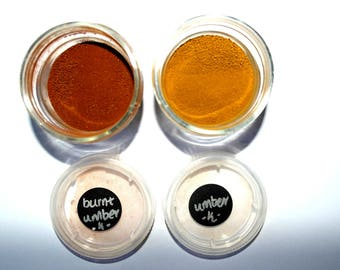 Umber and Burnt Umber pigments