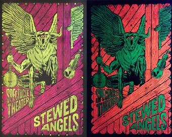 Stewed Angels: Caroliner on Tour blacklight poster