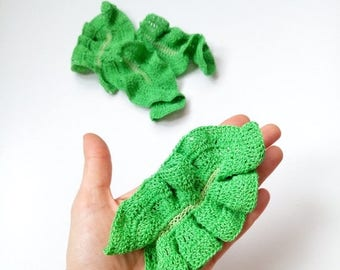 ON SALE Crochet Lettuce Pretend Play Crochet vegetables Crochet food Amigurumi Food Veggies Play Kitchen food Tactile toy Educational toy