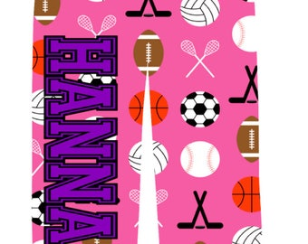 Personalized Sports on Pink PJ Pants