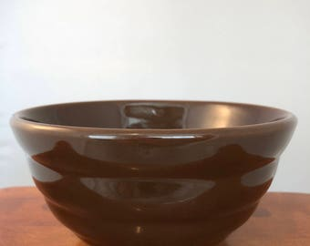 Vintage Bauer Pottery La Linda Mixing Bowl - Brown #24