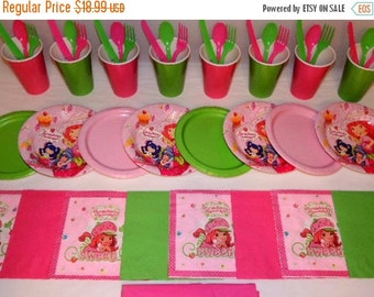ON SALE Strawberry Shortcake Tableware set for 8