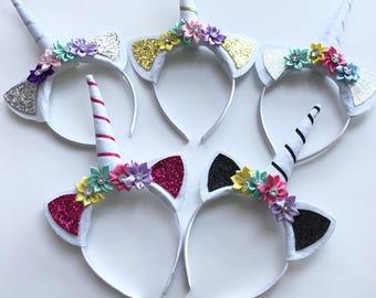 Handmade Unicorn Horn Children's Adult Headband x 5
