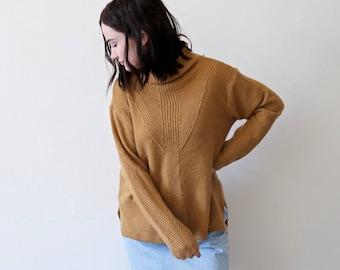 Vintage Mustard Yellow Turtleneck Sweater