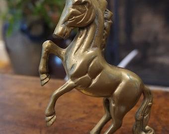 Vintage Brass Unicorn/ Kitschy Brass Unicorn/ Decorative/ Collectible/ Solid Brass