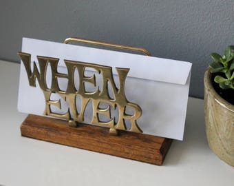 Retro Brass Letter / Bill / Office Organizer