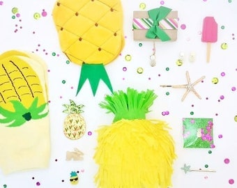 Surprise ball - pineapple party favors - mini pinata - pineapple gifts - birthday gifts for her - birthday gifts - pineapple party - gifts