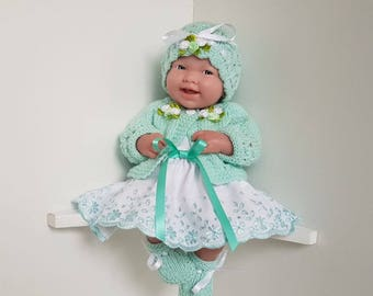 Baby Dolls Clothes set hand made for 14 inch dolls / BERENGUER / CUPCAKE / La Newborn / Reborn