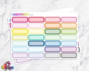 Quarter Box Planner Stickers, Round Box Stickers, Quarter Stickers, Box Stickers
