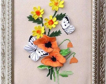 Flora & Flutter Stumpwork Embroidery Kit