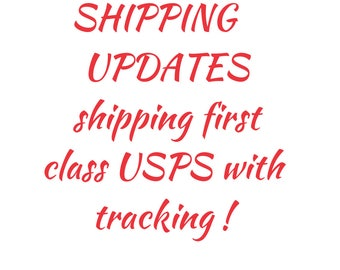 Shipping first class USPS with tracking
