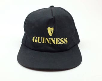 Vintage 90s 80s GUINNESS Stout Beer Snap Back Trucker Hat - Irish Stout
