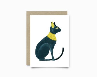 Greeting card - Egyptian Cat
