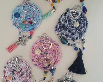 Talisman necklace with semi precious stones and Murano glass