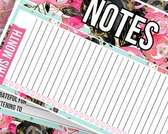 Lolita Notes Pages Kit - Planner Stickers