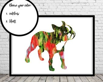 Boston Terrier, Boston Terrier watercolor, Terrier, watercolor print, dog print, watercolor Boston Terrier, Kids Room Decor, Poster (2362b)