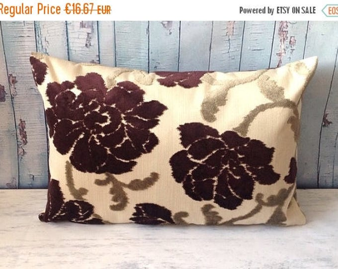 """Xmas Floral Cushion Cover, Upholstery Pillow Cover, Home Decor, 16"""" x 24"""", Home& Living"""