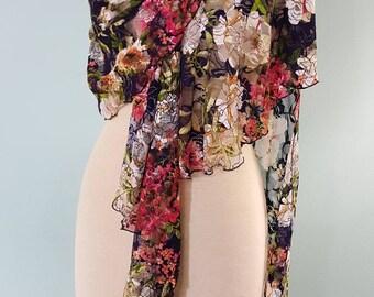 Lace Shawlrapp, Spring Wraps. Shawls, Long Scarves, Unique Scarves,